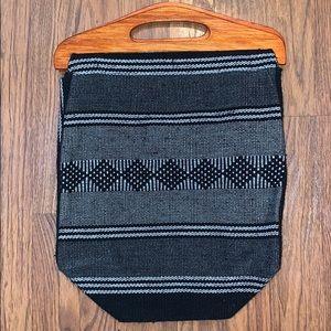 Handmade Mexican Wooden Handle Handbag